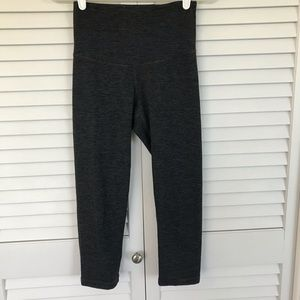 Old Navy Active Grey Striped Cropped Leggings